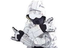 Snow board rider Stock Images