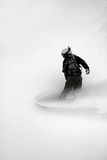 Snow boarder #5 in action. Snowboarder enjoys fresh powder near snowbird ski and summer resort in the backcountry utah #4 Stock Images