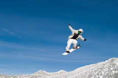 Snow Boarder High Royalty Free Stock Image