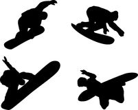 Snow boarder silhouette Stock Photo
