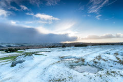 Snow on Bodmin Moor Stock Photo