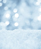 Snow and bokeh Stock Photography