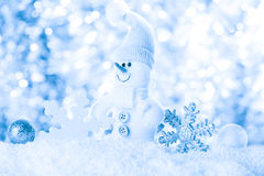 Snow and bokeh Royalty Free Stock Photos
