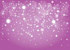 Snow bokeh background. Vector EPS 10. Royalty Free Stock Photos