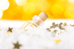 Snow and bokeh Royalty Free Stock Image