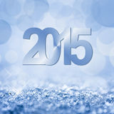 2015 snow and bokeh. Square background vector illustration