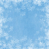 Snow Border 02. Snowflake border on a blue background royalty free illustration