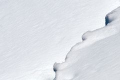 Snow border Stock Photo