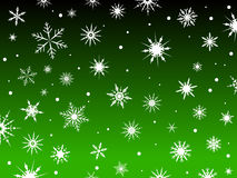 Snow Border Green Royalty Free Stock Photos