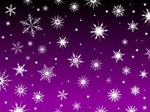 Snow Border Purple Royalty Free Stock Photo