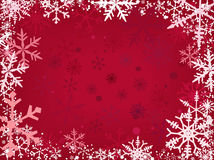 Snow Border Red Royalty Free Stock Image
