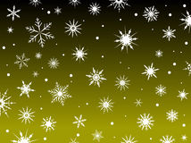 Snow Border Yellow Royalty Free Stock Photo