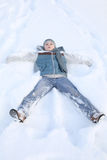 Snow boy Stock Images