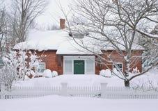 Snow and Bricks Stock Image