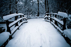 Snow bridge Stock Images