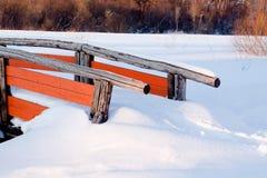 Snow bridge Royalty Free Stock Photos
