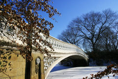 Snow Bridge stock photo