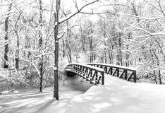 Snow Bridge Stock Photography