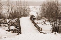 Snow Bridge Royalty Free Stock Image