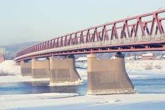 Snow bridge Stock Photos
