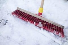 Snow broom Stock Photography