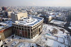 Snow in Bucharest Royalty Free Stock Photo