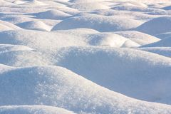 Snow bulge Stock Photo