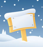 Snow Bulletin Stock Photography