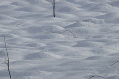 Snow bumps. In winter, Pyrenees in France stock photography