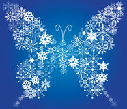Snow butterfly Stock Photo