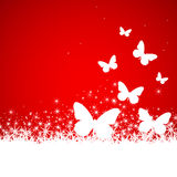 Snow, butterfly background illustration Stock Photo