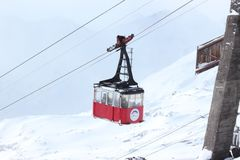Snow, Cable Car, Winter, Geological Phenomenon Stock Images