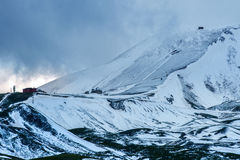Snow in Campo Imperatore, Abruzzo, Italy Royalty Free Stock Photos