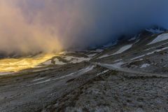 Snow in Campo Imperatore, Abruzzo, Italy Stock Photography