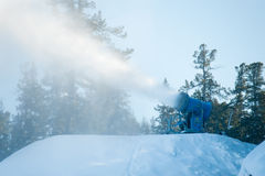 Snow cannon Royalty Free Stock Images
