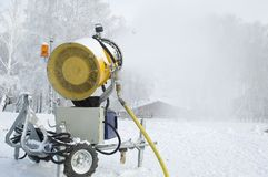 Snow Cannon Royalty Free Stock Photo