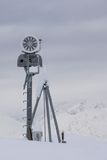 Snow cannon in the mountain ski resort Royalty Free Stock Photography