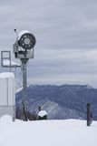 Snow cannon in the mountain ski resort Royalty Free Stock Images