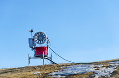 Snow cannon in the mountains Royalty Free Stock Images