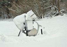 Snow cannon near ski slope Stock Photography