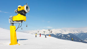 Snow Cannon at Ski Resort Royalty Free Stock Photo