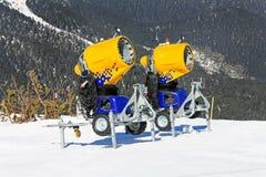 Snow cannons 2 Stock Photos