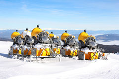 Snow Cannons Stock Images