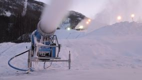 Snow cannons Royalty Free Stock Image