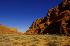 Snow Canyon Royalty Free Stock Photo