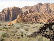 Snow Canyon on a cloudy day Stock Photography