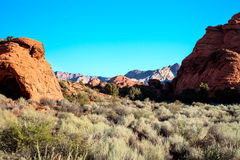 Snow Canyon State Park -Ivins -Utah. This scenic desert red rock park has numerous trails, canyons, and spectacular vistas stock photos