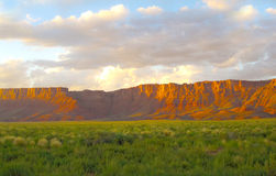 Snow canyon. Sunset of Snow Canyon State Park royalty free stock image