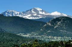 Snow Cap Mountain Royalty Free Stock Photo