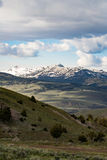 Snow cap mountain landscape - Yellowstone National Park. Travel vacation tourism photos taken in Yellowstone National Park Wyoming USA. Snow cap mountain Stock Images